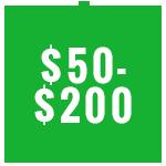 $50 to $200