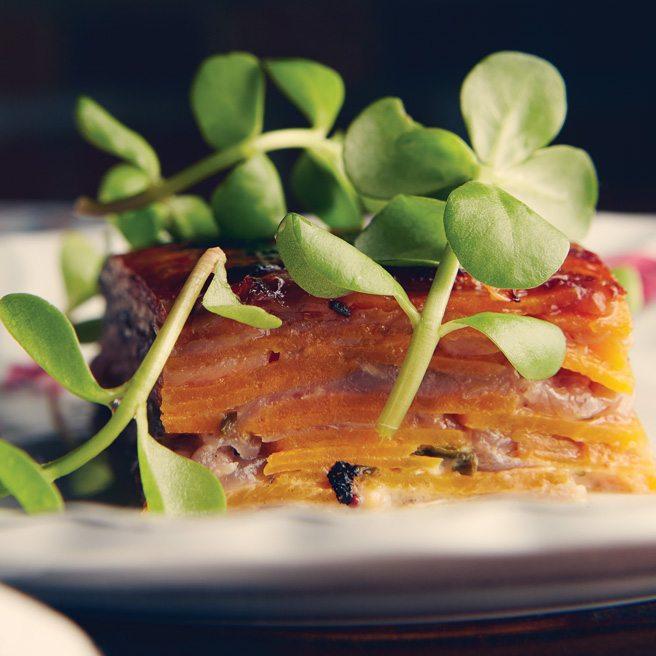 Recipe: The Grove chef Ben Heaton's elegant take on scalloped potatoes