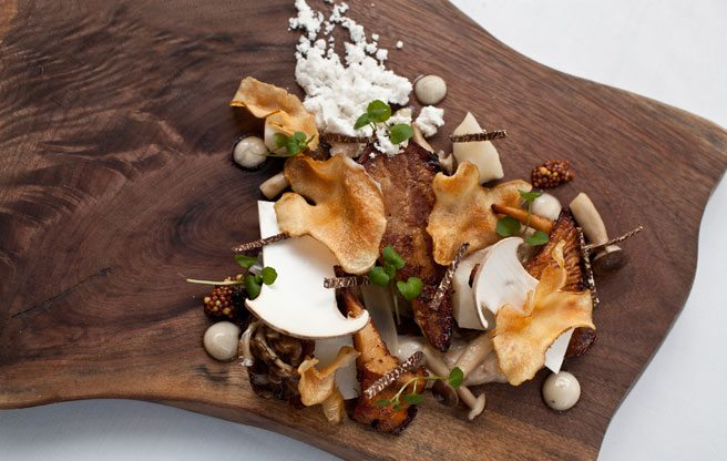 Must-Try: the award-winning black truffle and matsutake mushroom salad from Splendido