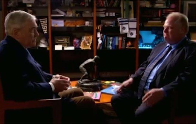 Conrad Black interviews Rob Ford on The Zoomer (Image: Vision TV/Screenshot)