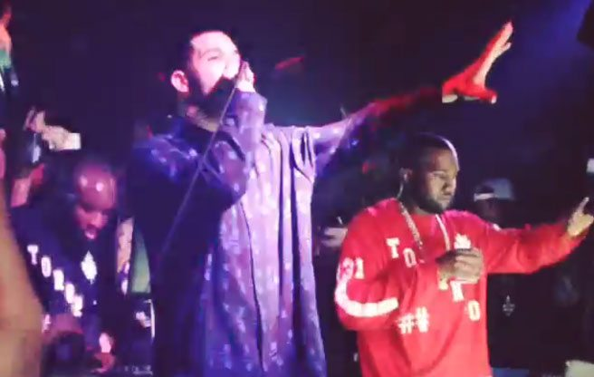 VIDEO: Kanye West and Drake's impromptu party performance on Bathurst Street