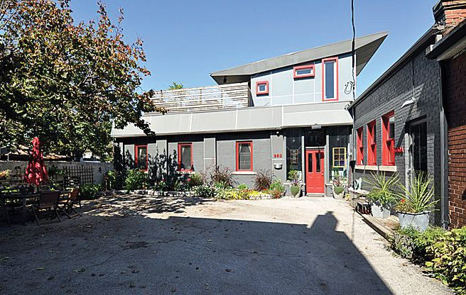 House of the Week: $1.3 million for a former munitions warehouse in a Junction Triangle laneway