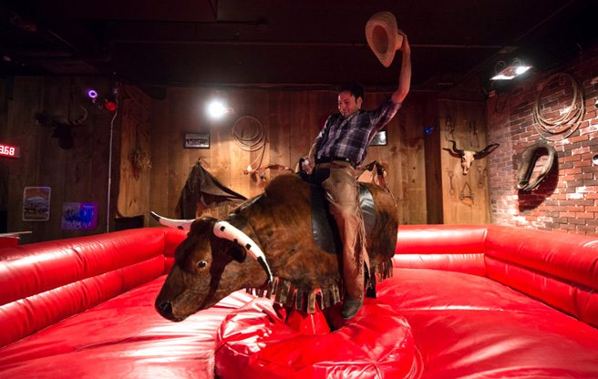 Introducing: Rock 'n' Horse Saloon, the other place in town where you can ride a mechanical bull