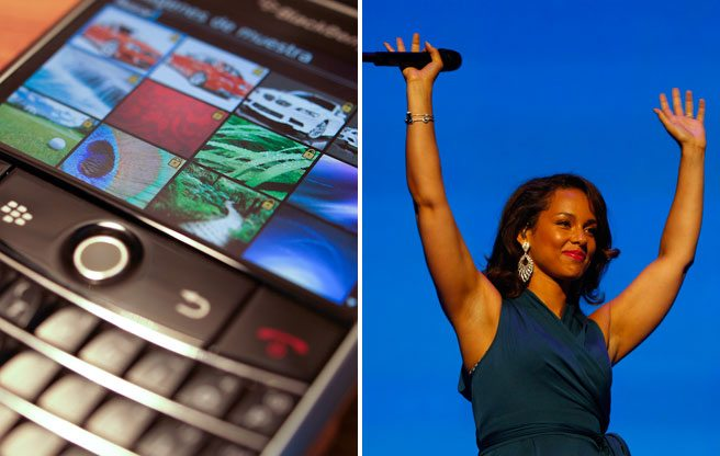BlackBerry's latest setback: no more Alicia Keys