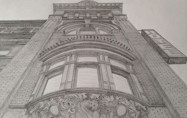 Here are some incredible pencil drawings of historic Toronto buildings