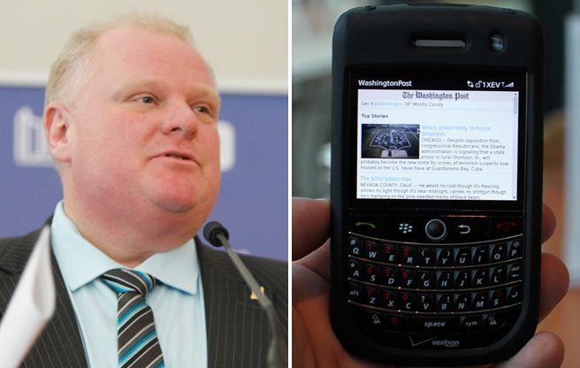 QUOTED: Rob Ford, on reports that Toronto police are after his cellphone records