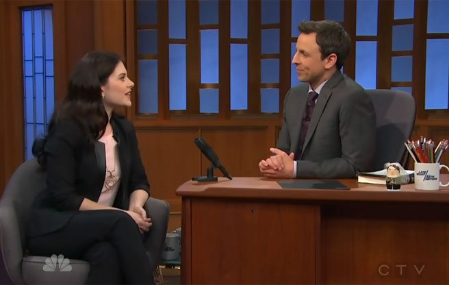 Robyn Doolittle talks about Rob Ford on <em>Late Night With Seth Meyers</em>
