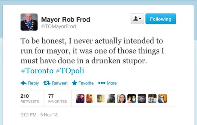 Did Rob Ford get his foremost online impersonator banned from Twitter?
