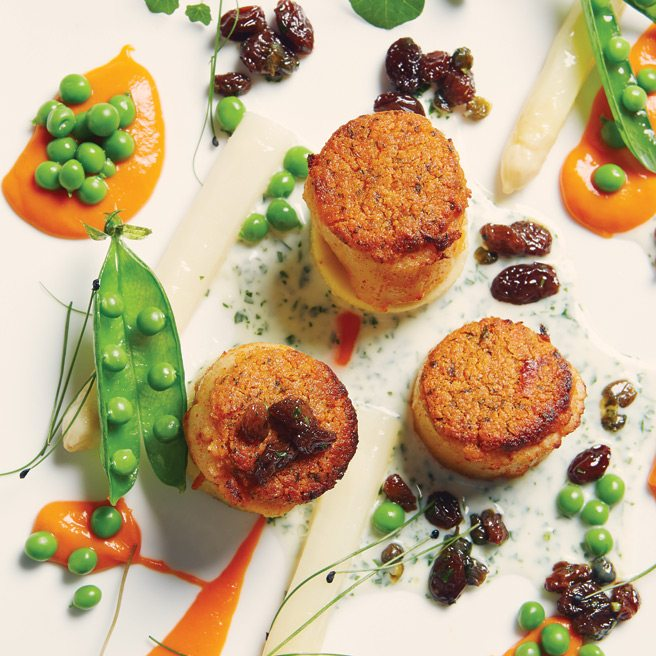 Recipe: Susur Lee's butter-roasted scallops with tarragon