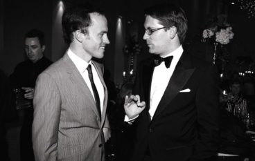 Johannes Debus, the COC's music director, and Alexander Neef, the general director, at the Four Seasons Centre