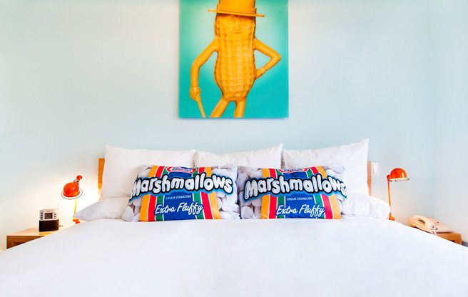 See inside the Gladstone Hotel's food-themed room designed by Bob Blumer