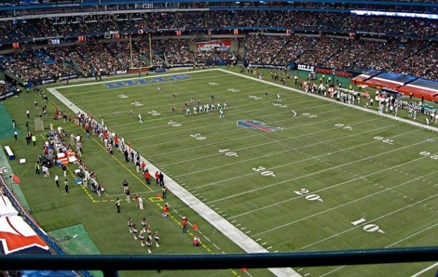 The Bills play the Miami Dolphins at Rogers Centre in 2008. (Image: gbalogh)