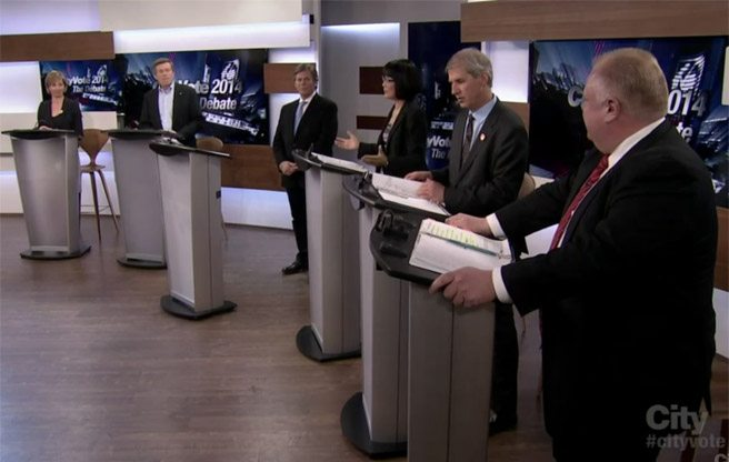 So, what happened during the 2014 mayoral election's first televised debate?