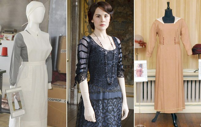 Slideshow: take a look at Lady Mary's eveningwear, and other Downton duds on display at the Spadina Museum