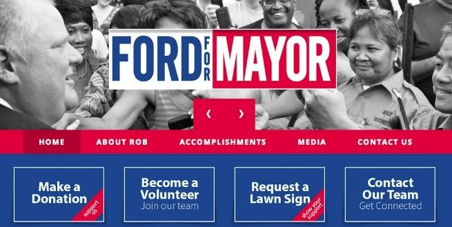 Let's review the websites of Toronto's mayoral candidates