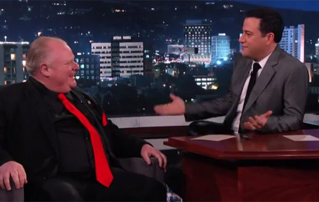 Jimmy Kimmel will appear on Rob Ford's YouTube show