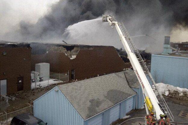 Six photos of a six-alarm fire near Dufferin and Eglinton