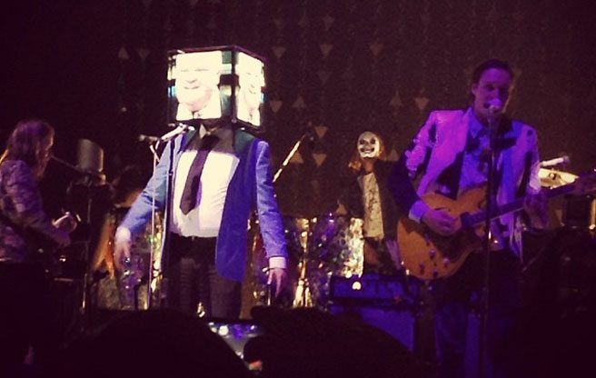 PHOTO: Rob Ford joins Arcade Fire on stage at the ACC, sort of