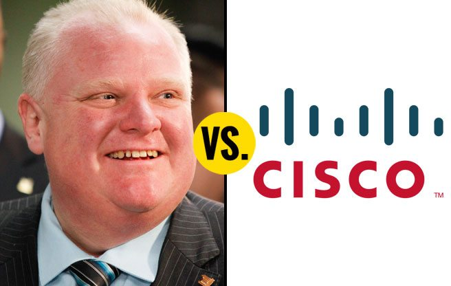 Cisco's $100-million investment in Toronto is all Rob Ford's doing, says Rob Ford