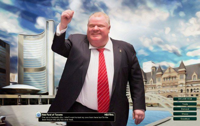 Someone has made Rob Ford's Toronto into a <em>Civilization V</em> mod