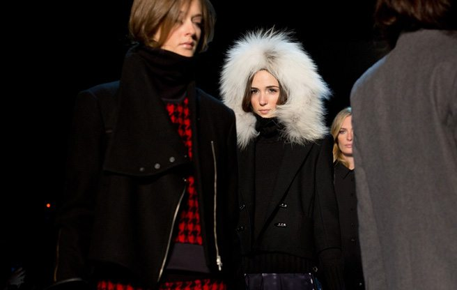 Toronto Fashion Week: buffalo plaid and fluffy fur collars at Pink Tartan Fall 2014