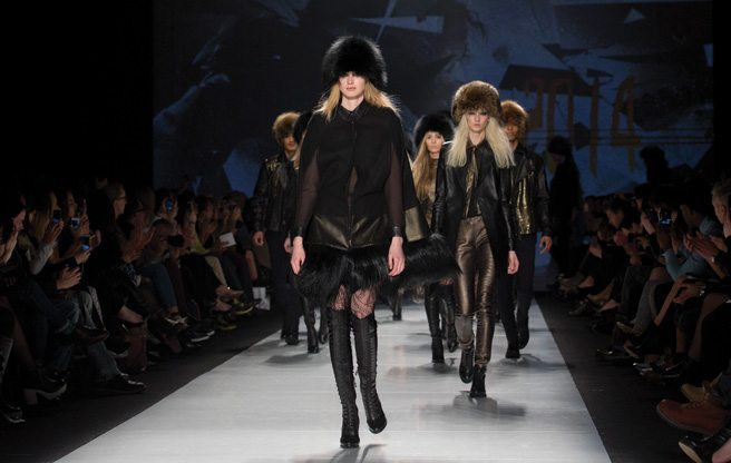 Toronto Fashion Week: Rudsak brings skintight leather and furry Cossack caps to its 20th anniversary show