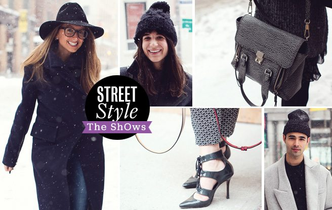 Street Style: bundled-up looks from the industry crew at The ShOws