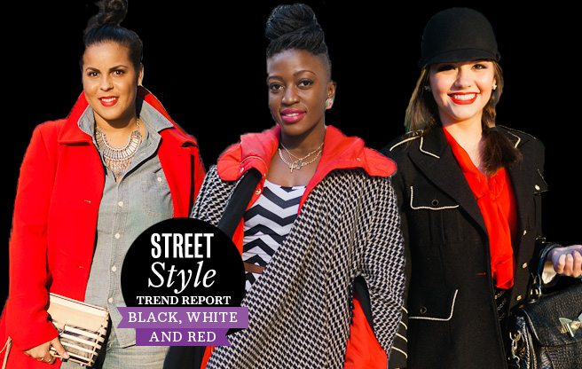 Street Style Trend Report: Black, White and Red