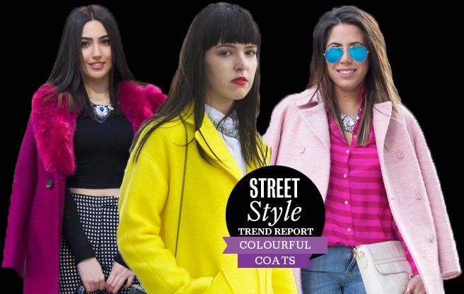 Street Style Trend Report: the Fashion Week crowd flaunts winter coats in fresh spring colours