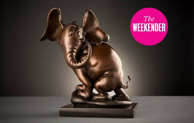 A bronze sculpture of Horton (from Horton Hears a Who), by artist Leo Rijn. (Image: Courtesy of Liss Gallery)