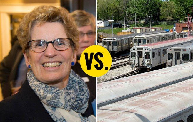 Kathleen Wynne explains how she'll pay for new transit in the GTA, except not really