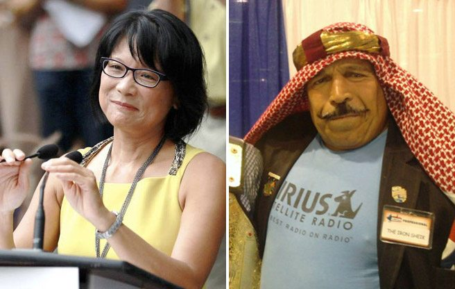 Olivia Chow gets the Iron Sheik's endorsement, then apologizes
