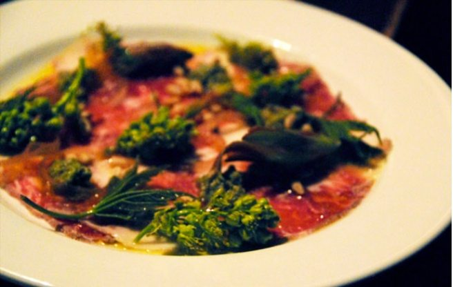 Must-Try: The Black Hoof's sweet and silky pork carpaccio