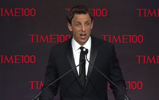 VIDEO: Watch Seth Myers make fun of Rob Ford at the <em>Time</em> 100 gala