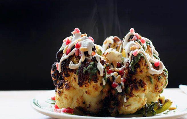 The whole roasted cauliflower at Fat Pasha. (Image: Jackie Pal)
