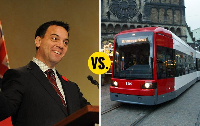 Tim Hudak would cancel the Finch and Sheppard light-rail lines