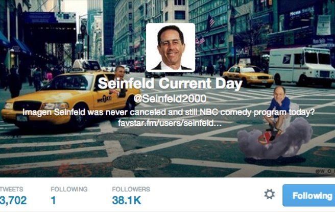 The guy behind @Seinfeld2000, the hilarious parody-of-a-parody Twitter account, is Torontonian