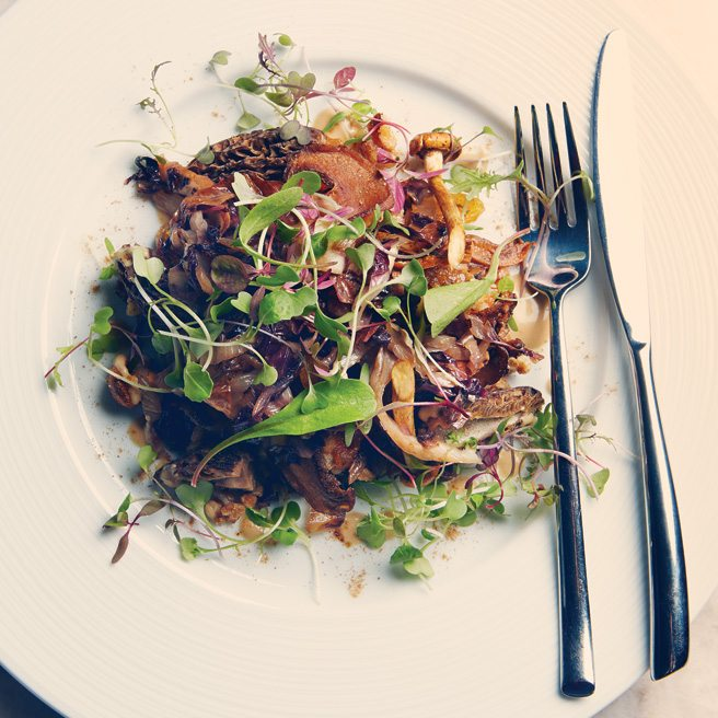 Recipe: Aria chef Eron Novalski's hearty farro salad with porcini vinaigrette