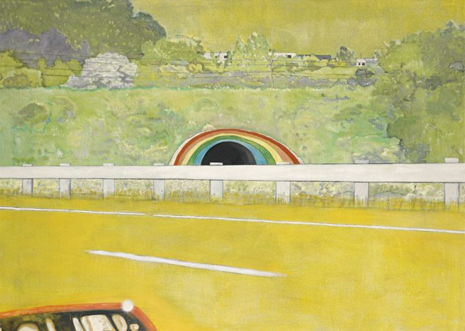 Country Rock (Wing Mirror), by Peter Doig. Image courtesy of Sotheby's.