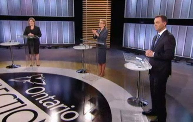 Gas plants and folksy anecdotes: a few running themes from last night's Ontario leaders' debate