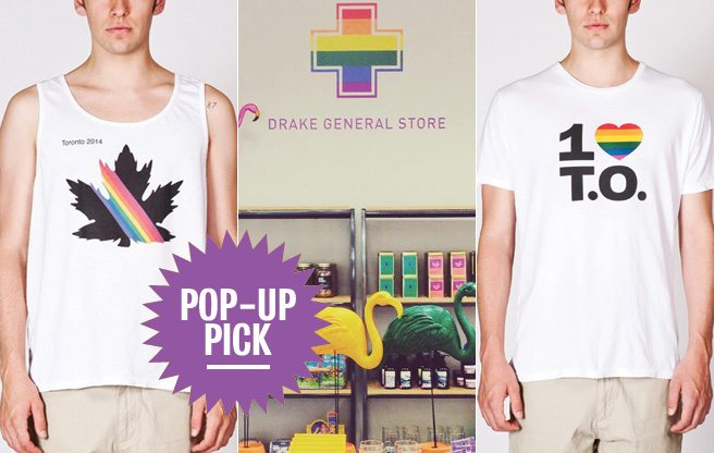 Pop-Up Pick: snag Pride-themed paraphernalia from the Drake General Store at the Bay
