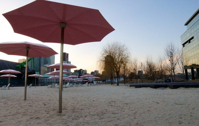 Waterfront Toronto asks for more money, is forced to talk about pink umbrellas instead