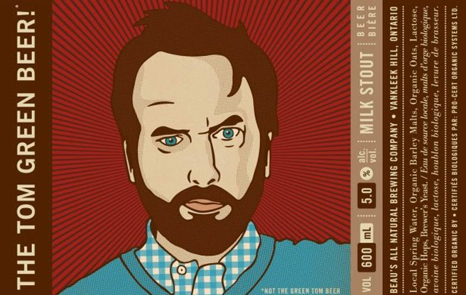 Tom Green's award-winning collaborative beer with Beau's All Natural