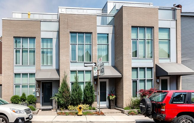 Condo of the Week: $1.3 million for a Moss Park townhouse with unusually exciting walls
