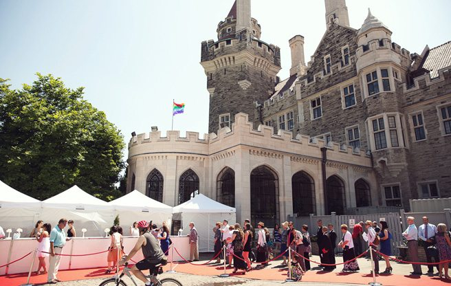 Ten couples share their stories at Casa Loma's mass wedding for World Pride
