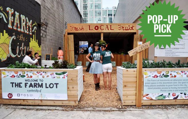 Pop-Up Pick: a quaint fruit stand wedged between condos on King West