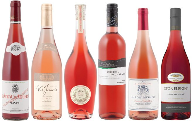 Pretty in Pink: Rosés are the thing to drink this summer—they're dry, refreshing and a great match for the 'cue