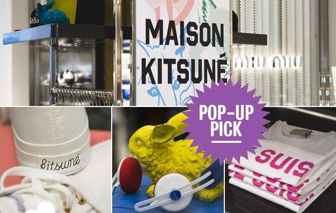 Pop-Up Pick: shop chic Parisian label Maison Kitsuné at Holts