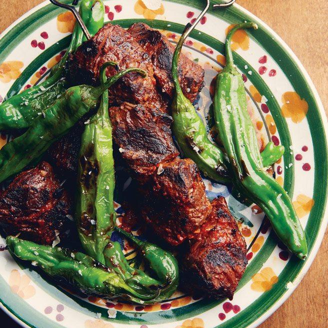 Recipe: Bar Isabel chef Grant van Gameren's grilled steak with shishito peppers