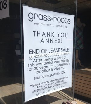 Grassroots shuts the doors to its Annex location
